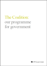 The Coalition Agreement: our programme for government